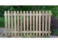 brand new high quality treated picket fencing