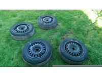 185/65 r15 4x100 Vauxhall astra wheels with tyres
