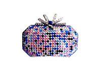 Clutch Bag Customised with Rainbow Gems