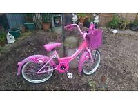Girls Pink Hello Kitty Bike / Bicycle