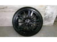 ALLOYS X 5 OF 20 INCH GENUINE RANGEROVER/DISCOVERY FULLY POWDERCOATED INA STUNNING BLACKSPARKLE NICE
