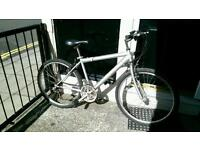 Venture bike in silver, gears and brakes are in very good condition