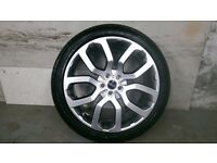 ALLOYS X 4 OF GENUINE 22 INCH RANGEROVER VOGUE STYLE/6 FULLY POWDERCOATED IN A STUNNING SHADOWCHROME