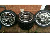 "18""alloy wheels with tyres"