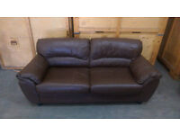 2 x Leather sofas in VGC