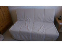 IKEA Lycksele 2 seat sofa/double bed with cover and instructions