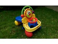 Toddlers push n ride buggy