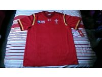 Wales WRU 2015 Rugby World Cup Under Armour XL official replica home shirt BNWT