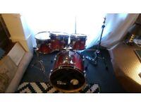 Mapex Pro M All Maple Drum Kit Cherry Fade