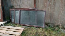 3 x Mahogany Windows