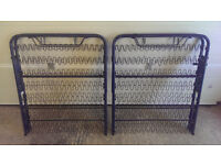 Pair of Folding Guest Beds /Camp Beds