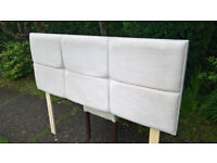 Ex-display Myers King Size Buttercup Upholstered Headboard.