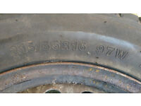 2 tyres on rims, Event WL905 215/55 R16 87W size and rating - Fit Vauxhall Vectra