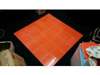 Details about Glazed wall tiles 25pcs in 1 box = 1m square 20cm x 20cm orange (new)