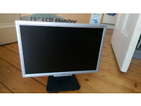 "Acer 19"" wide screen monitor - good condition"