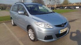 2009/59 Mazda 5 1.8 TS2, 7 seater MPV, blue, low mileage 73k, FSH, nice condition throughout.