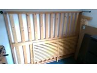 Double bed - wooden, good condition