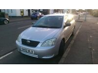2002 Toyota Corolla T2 1.4 VVTI spares or repairs