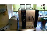 JURA IMPRESSA X9 BEAN TO CUP COFFEE MACHINE + MILK THERMOS.