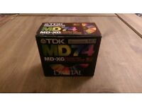 TDK Recordable Minidiscs (Box of 5) New & Sealed