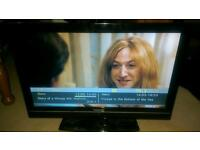 Toshiba flat screen TV with freeview