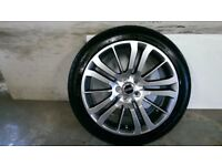 ALLOYS X 4 OF 20 INCH GENUINE RANGEROVER SPORT HSE FULLY POWDERCOATED IN A STUNNING SHADOW/CHROME
