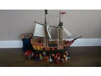 Playmobil Large Pirate Ship (5135) and Mobile Dungeon (4776)