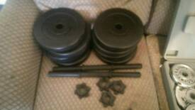 20kg weight dumbell set