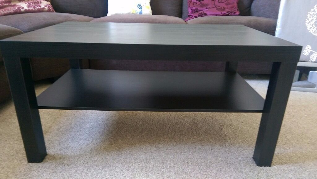 Brand New Ikea Lack Coffee Table Black Brown Side Dark