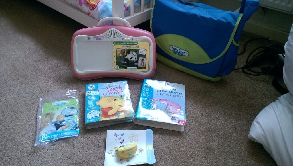 Little touch leappadin Rawmarsh, South YorkshireGumtree - Little touch leap pad with 4 interactive books and lap tray with carry bag. Fantastic for little ones. Willowgarth rawmarsh. £8