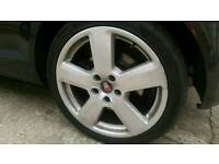 Audi A3 S-Line Ronal 18 inch alloys with tyres 5x112 PCD - Offset ET50 - 57.1 mm Centre Bore