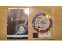 Windows Vista Ultimate OEM DVD with License Sticker