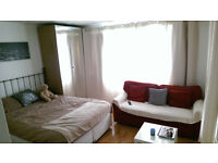 very good double bed , Ikea wardrobe and chest of drawer