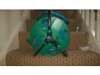 NEW GARDEN HOSE AND REEL FOR SALE