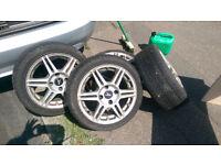 Alloy wheels with tyres Focus/Fiesta