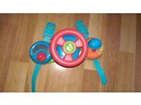 Musical baby car pram / pushchair / car seat activity toy