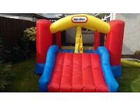 Little Tikes Jump n Slide bouncy castle with blower