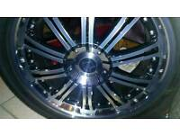 """Fox Racing 5x120 20"""" Alloy wheels with tyres"""