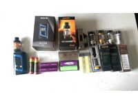 Vape stuff - Tanks, mods, batteries and charger