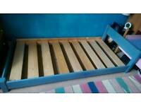 Low Single bed frame - Solid wood