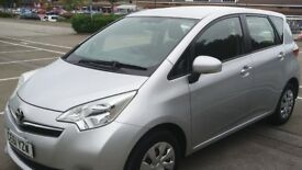 TOYOTA VERSO S VVTI, 5 DOOR 2011 1.3 PETROL SILVER 93830 LOW MILEAGE 100 BHP FABRIC SEAT ONE OWNER