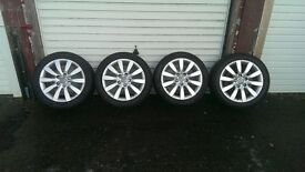 "audi 17"" wheels and tyres"