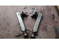 2 Ifor Williams type underbody swivel trailer jack leg and mounting plate1000kg trailer plant