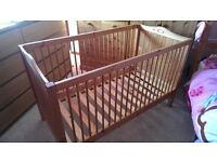 Pine Nursery Childrens Furniture Set with Cot bed / Cotbed, Wardrobe & Chest of Draws
