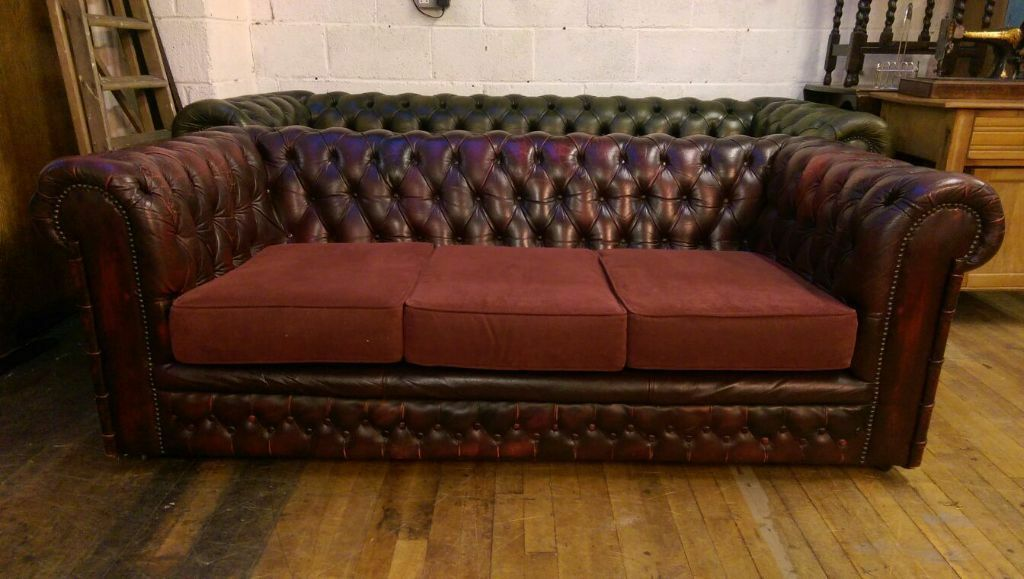 Chesterfield Oxblood 3 Seater Sofa In Barwell
