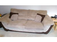 Sofa, chair and matching storage footstool