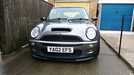 2002 Mini Cooper S 1.6 Supercharged. Grey. 102k Miles. Approx 200 BHP. MOT March 2018.