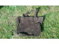 Brown Cord Handbag.