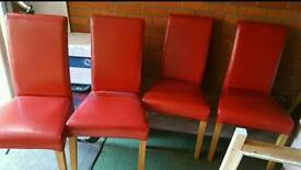 Red Leather Chairs