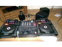 DJ Equipment (CDJ 900, DJM 800 & KRK Rokit Speakers 6)